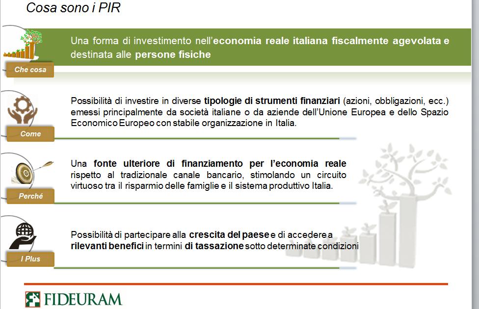 Legge di bilancio 2017 introduzione in italia dei pir for Piani di aggiunta di suite in legge